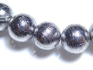 鉄隕鉄 ギベオン メテオライト 6mm ブレスレット giv06001