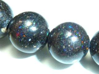 天然石 ブラックオパール 10mm ブレスレット opa10001b