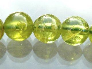 天然石 ペリドット 7mm ブレスレット per07001