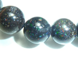 天然石 ブラックオパール 6mm ブレスレット opa06004b
