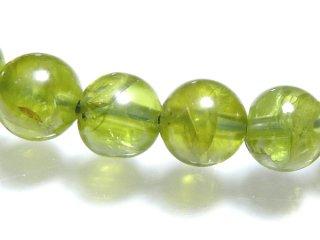 天然石 ペリドット 7mm ブレスレット per07002