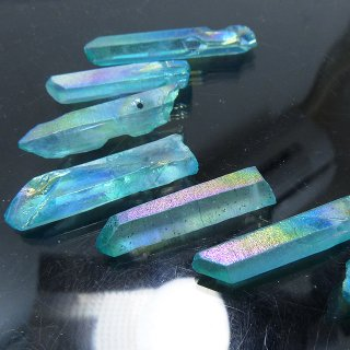 【1粒売り】 水晶原石 ポイント オーロラブルー (L) 27-37x4-8mm cry_pt_L_ob