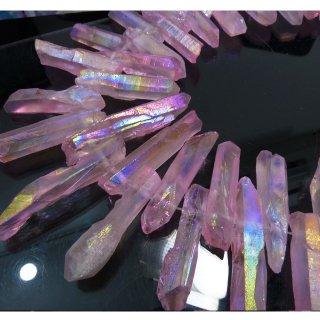 【1粒売り】 水晶原石 ポイント オーロラピンク (L) 28-47x5-10mm cry_pt_L_op