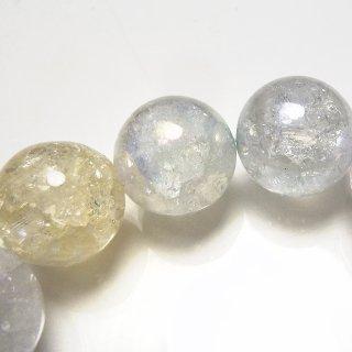 天然石 パステルクラックアクアオーラ 12mm ブレスレット aur12001mcr