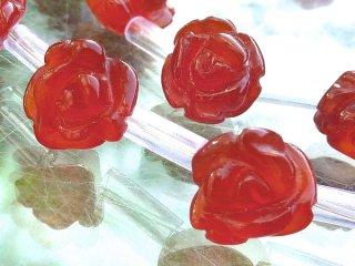 【1粒売り】 カーネリアン 薔薇 8x5-6mm car_ros_S_0