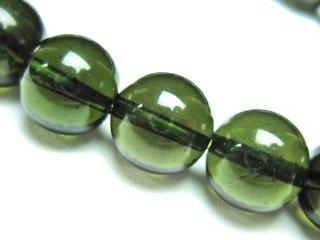 天然ガラス モルダバイト 9mm ブレスレット mor09001
