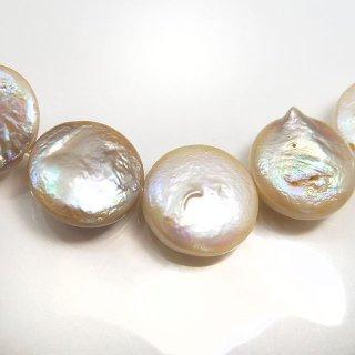 【1粒売り】 淡水パール ホワイト コイン 10〜12cm pea_co_10_0