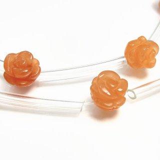 【1粒売り】 オレンジアベンチュリン 薔薇 S 7〜8mm ave_rose_S_o