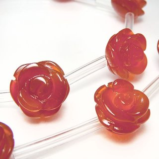 【1粒売り】 カーネリアン 薔薇 L 12mm car_rose_L_0