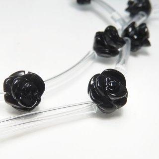 【1粒売り】 オニキス 薔薇 S 8mm oni_rose_S_0