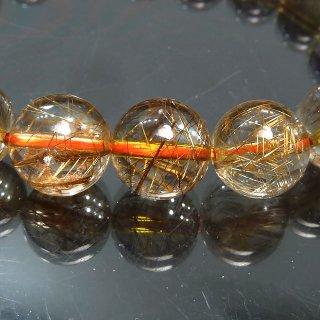 天然石 高透明度ゴールドブロンズルチルクォーツ 11mm ブレスレット rut11003