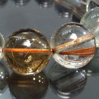 天然石 高透明度ルチルクォーツ 15mm ブレスレット rut15001