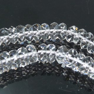 クリスタル 水晶 ボタンカット (L) 6x2.5mm 半連 約20cm @980円 qua_but_ha_0