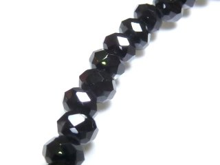 天然石 ブラックスピネル ボタンカット ブレスレット spi03001b