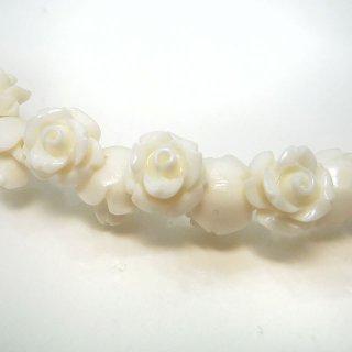 【1粒売り】レジンストーン 薔薇 ホワイト SS 6mm art_rose_6_w