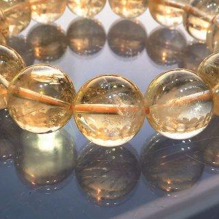 天然石 シトリン 12.5mm ブレスレット cit12.5001
