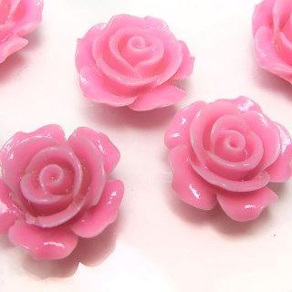 【1粒売り】レジンストーン 薔薇 ピンク LL 15mm art_rose_LL_p