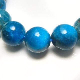 天然石 ブルーアパタイト 9.5mm ブレスレット apa09.5001pb