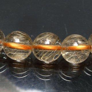 天然石 ゴールドルチルクォーツ 7mm ブレスレット rut07.5006