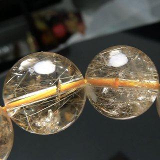 天然石 ゴールドルチルクォーツ 15.5mm ブレスレット rut15.5001