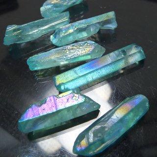 【1粒売り】水晶原石 ポイント オーロラブルー わけあり 18-31x4-9mm cry_pt_w_ob