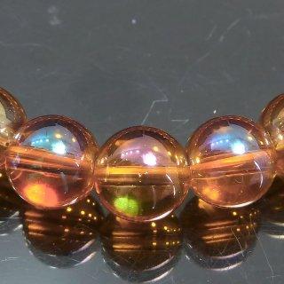 天然石 オレンジオーラ 8mm ブレスレット aur08001o