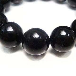 天然石 モリオン 黒水晶 14mm ブレスレット mor14001