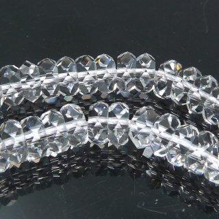 クリスタル 水晶 ボタンカット (M) 5x2.5mm 半連 約20cm @980円 qua_but_M_ha