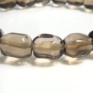 天然石 スモーキークォーツ 9-10.5mm ブレスレット sm10001t