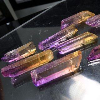 【1粒売り】水晶原石 ポイント アメトリン色 わけあり cry_pt_w_amet