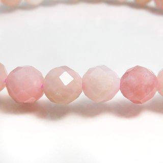 天然石 ピンクオパール 多面カット 6mm ブレスレット opa06002p