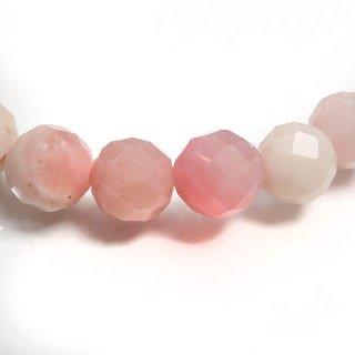 天然石 ピンクオパール 多面カット 6mm ブレスレット opa06003p