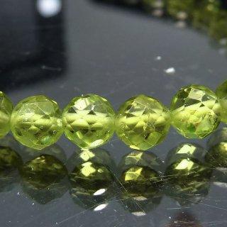 天然石 ペリドット 5mm ブレスレット per05003