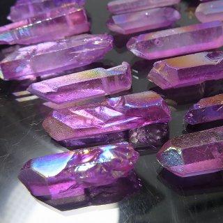 【1粒売り】水晶原石 ポイント オーロラパープル M cry_pt_M_opa