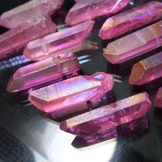 【1粒売り】水晶原石 ポイント オーロラパープルピンク M cry_pt_M_opp
