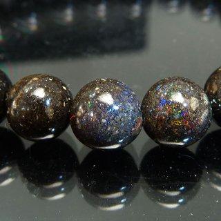 天然石 ブラックオパール 8mm ブレスレット opa08001b