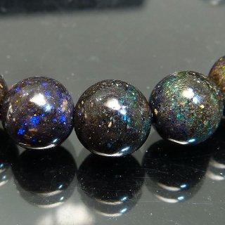天然石 ブラックオパール 8mm ブレスレット opa08002b