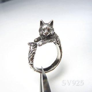 ネコに包まれるリング� SV925 acc_ring_cat_05