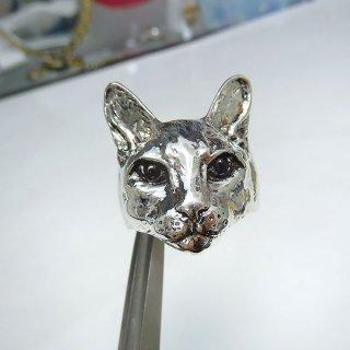 リアルネコに包まれるリング シルバー acc_ring_cat_08