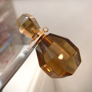 スモーキークォーツ 香水瓶 香水ボトル 40x20mm sm_top_puf_01