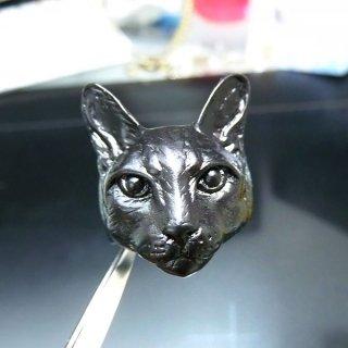 リアルネコに包まれるリング 黒 acc_ring_cat_07