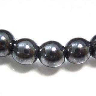 天然石 ヘマタイト 磁気あり 6mm ブレスレット hem06001