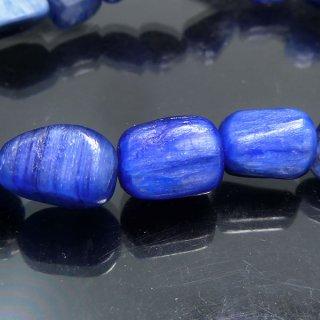 天然石 カイヤナイト タンブル 7〜14mm ブレスレット kya12002t