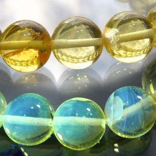 天然琥珀 バルト海産ブルーアンバー 琥珀 8mm ブレスレット amb08001h
