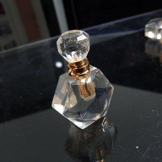 天然水晶 クリスタル 香水瓶 ボトル 六角形 cry_top_puf_04