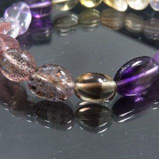 天然石 オーラライト23 8〜14mm ブレスレット aur08001t