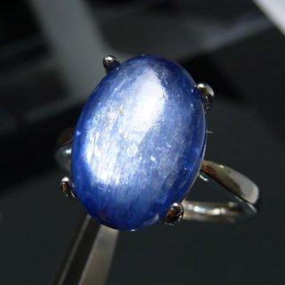 天然石 カイヤナイト SV925 フリーサイズ 14x10mm リング kya_ring_14x10_1