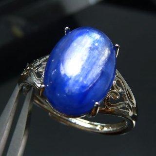 天然石 カイヤナイト SV925 フリーサイズ 14x10mm リング kya_ring_14x10_3