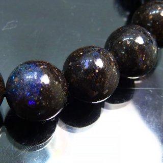 天然石 ブラックオパール 9mm ブレスレット opa09001b