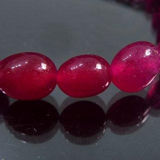 天然石 ルビー タンブル 7.5-9mm ブレスレット ruby08002t